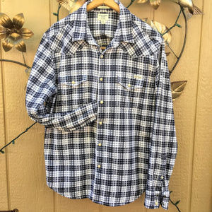 Lucky Western Snap Shirt Sturdy Cotton M